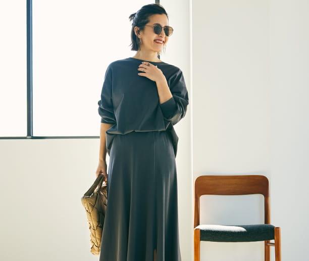 大草直子の MY LIFE, MY PASSION VOL.01 カジュアルな素材で楽しむ クチュール感のあるスカート