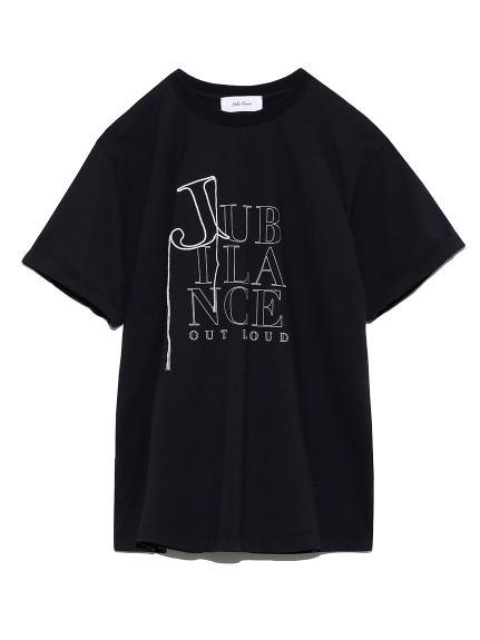 3段ロゴプリントTシャツ(BLK-0)