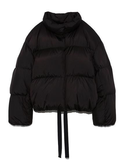 裾リボンソフトショートダウンジャケット