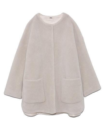 ノーカラーシャツカーブボアジャケット