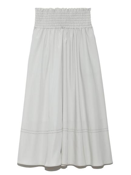 ゴムシャーリングハシゴ刺繍スカート