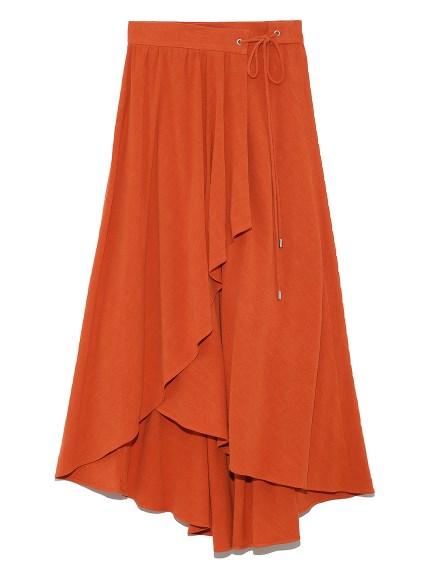 ロングテールラッフル巻きスカート