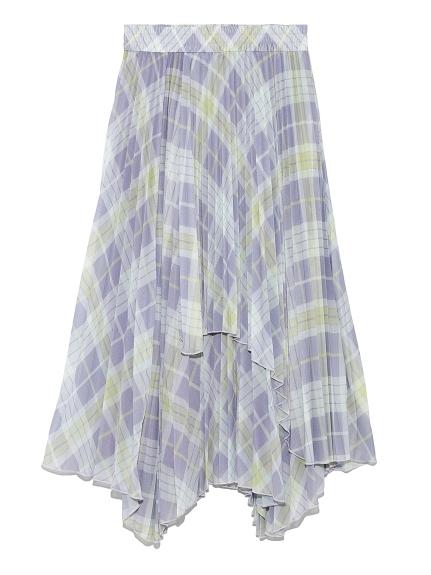 レイヤードロングプリーツスカート