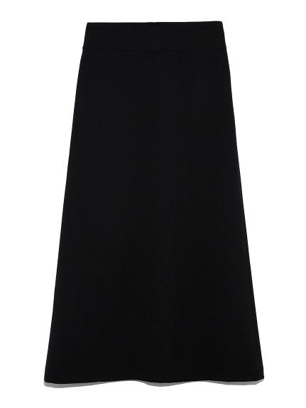 Wステッチデザインスカート(BLK-0)