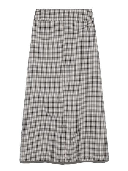 Wステッチデザインスカート(CHECK-0)