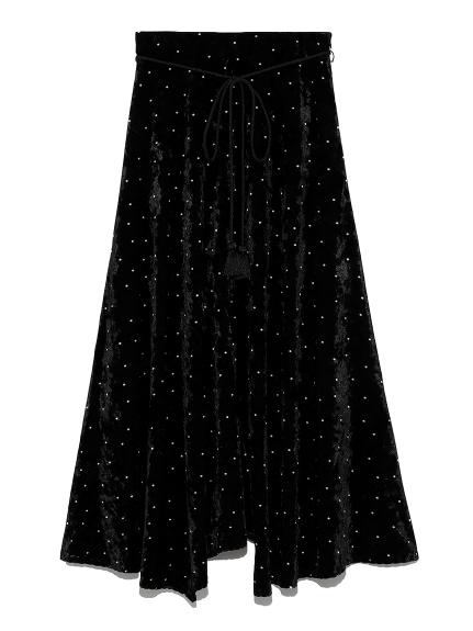ランダムヘムベルベットマキシスカート(DOT-0)
