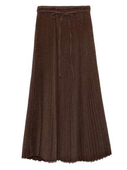 ストレートロングプリーツスカート