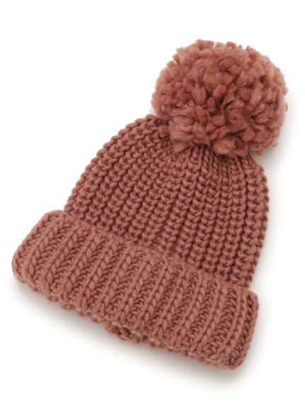 ポンポンニット帽(PNK-F)