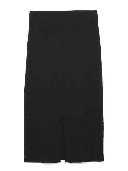 フロントスリットニットタイトスカート