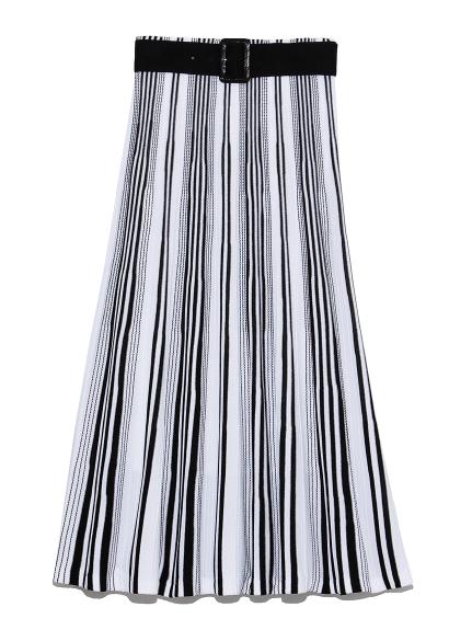 パネル切替ニットスカート(BLK-0)