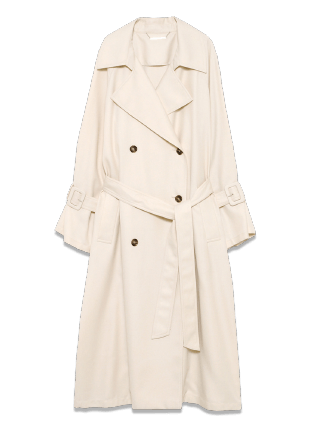 Sleeve volume long trench coat